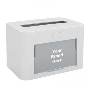 Interfold Napkin Dispenser Antibacterial White 417194, papernet ready table
