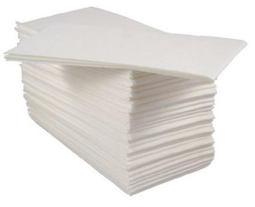 Paper Airlaid Hand Towels, Napkins 8 Fold, 100 Luxury White (2x Packs of 50)